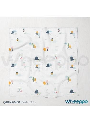 Wheeppo Çiftlik  Müslin Örtü  70*80 Cm Renkli